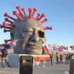 【動画】米国、LAに巨大な「習近平中共ウイルスの像」が設置される!恐ろしい…