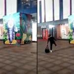 【動画】中国、街頭で喧嘩するカップル、すると、突然、男がその場から消える! [海外]