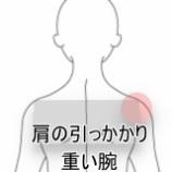 『服の脱ぎ着がしづらい肩関節』の画像
