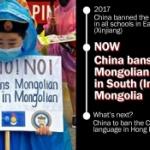 【中国】内モンゴル自治区でモンゴル語教育を禁止!学校で中国語だけの使用を通達