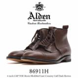 『入荷 | ADLEN (オールデン) 86911H 6インチ カントリーカーフ 【DARK BROWN】』の画像