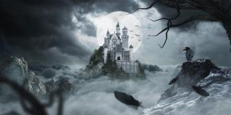 海外に行った時、夜中に肝だめし感覚で城に侵入し探索してたら妙な亡霊に追いかけまわされた