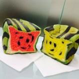 『【画像】台湾で日本の四角いスイカ風の食パンが販売され大人気に!』の画像