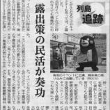 『(日経新聞)熊本の「くまモン」全国区に 露出策の民活が奏功』の画像