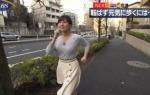 角谷暁子アナ 胸を突き出しながら歩く!!【GIF動画あり】