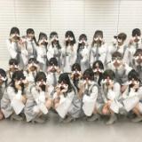 Mステスーパーライブに出演するAKB48がタモサンタで集合写真