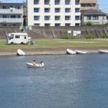 『広瀬川にボートが帰ってきた』の画像