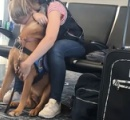 【パニック障害】発作を起こした女性を落ち着かせる介助犬の動画が話題に