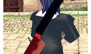 赤黒点滅巨大クッキングナイフ