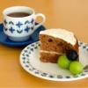 キャロットケーキで朝ごぱん