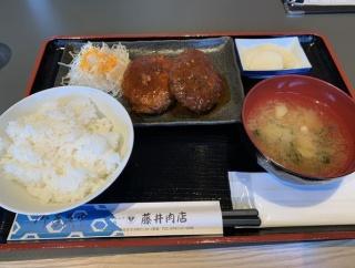能美市寺井の能登牛はじめ品質の良いお肉を扱う「藤井肉店」併設している食事処でランチにハンバーグ