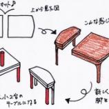 『リメイクテーブルの塗り直し』の画像