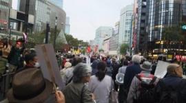 日本中がお祝いムードの中、サヨクが即位式反対デモ…暴れて逮捕者複数