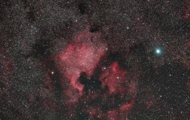 『シグマAPO 150mmF2.8によるはくちょう座の北アメリカ星雲&ペリカン星雲コラボ』の画像