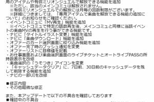 【ミリシタ】シアターデイズVer. 2.0.300が配信!