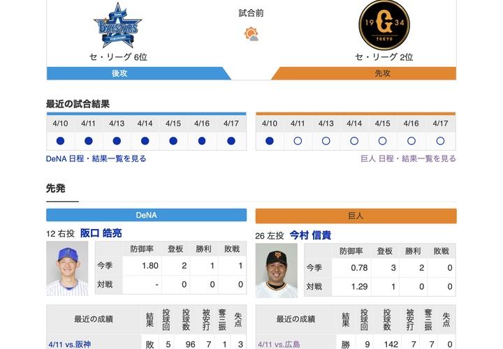 【巨人実況!】vs DeNA(6回戦)!先発は今村!捕手は大城!5番・香月!