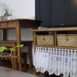 『●リビングルームの収納● リビングルームの収納スペースと文房具の収納』の画像