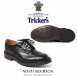 『入荷 | Tricker's (トリッカーズ) M5633 BOURTON カーフ ダイナイト 【ブラック】』の画像
