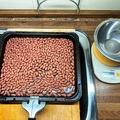 落花生の焙煎