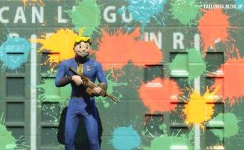 Fallout4 まるでス○ラトゥーンな未実装コンテンツ『ペイントボールガン』