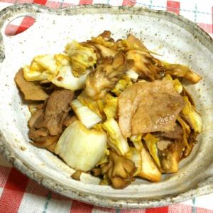 舞茸と白菜の甘辛炒め