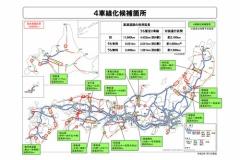 国交省「2車線の高速道路、4車線化しちゃうぞー。2020年度の工事個所はこちら」