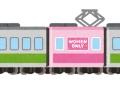 熊本市電「車両の半分を女性専用にした試運転の結果やで」