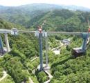 日本一の高さになる橋が完成 高さ125m 岐阜の東海北陸道