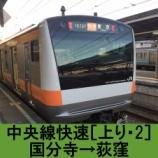 『中央線快速 車窓[上り・2]国分寺→荻窪』の画像