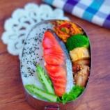 『息子の鮭弁当*残り野菜のきんぴらとマヨ焼肉のたれ炒め』の画像