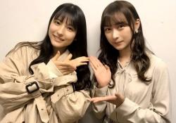 美×美! 鈴木絢音&早川聖来、仲良し姉妹みたいでほっこりwww