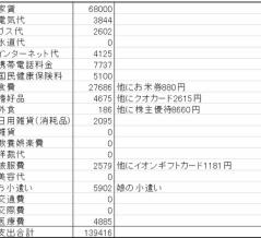無職母娘の8月の家計簿公開!(まさかの黒字♪)