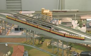 鉄道喫茶で鉄道模型を