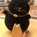 クロは、ネコの工芸品を手に入れた!@木工だんだん工房(道の駅ふわり)