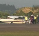 鹿児島空港で小型機が胴体着陸した件、機長が車輪出し忘れのうっかりさんだったと判明