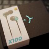 『レビュー  【外観】CHALKED X100-GR (Hi-Res AUDIO 対応) ハイブリッドデュアルドライバ対応インナーイヤー型ヘッドホン』の画像