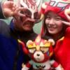 松井珠理奈さん、正月三が日から発狂しまくりのアンチを嘲笑うかのように獣神サンダー・ライガーさんとツーショット