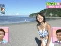 【朗報】NHKのデカチチアナが朝の番組で水着で谷間を見せつけるwwwww