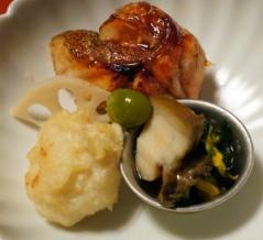 中央区清川の日本料理店でお任せコースでミニ同窓会。