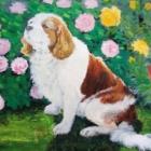 『therealashketchumさんの絵に感動【茨城県北部の景色と愛犬をベニヤ板に描く】』の画像