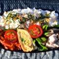 鶏むね肉、椎茸、万願寺の中華炒め