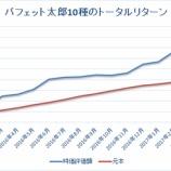 『【トータルリターン18ヶ月目】「バフェット太郎10種」VS「S&P500ETF(IVV)」』の画像