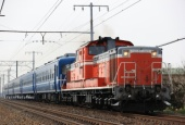 『2021/2/12運転 DD51-1192牽引12系米原試運転』の画像