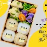 『ピーマンと鶏むね肉と豆腐の落とし揚げのお弁当』の画像