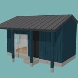 『6畳一間で建築するとこんな感じ!?その2 テラス屋根をつけて。』の画像