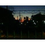 『朝焼けの見えるホーム』の画像