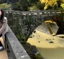 1日30分だけの珍風景 「ハートの石橋」が復活