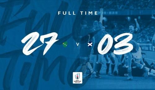 アイルランドがスコットランドに圧勝(ラグビーW杯 海外の反応)