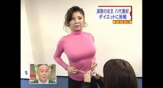 八代亜紀ちゃん(67)のパツパツww