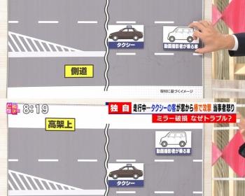 【大阪タクシー事件】乗客が笑いながら窓から杖を出し車を叩く(動画あり)